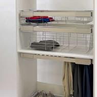 slide out wardrobe basket 150mm