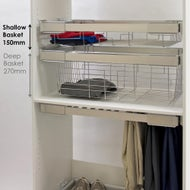 pull out wardrobe basket low profile