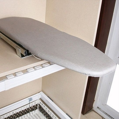 fold out ironing board, flip out ironing board, diy folding ironing board